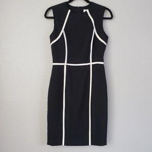 Calvin Klein Black White Dress Size 2 Sleeveless